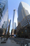 World Trade Center Freedom Tower und Brookfield-Platz Lizenzfreies Stockfoto