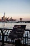 World Trade Center Hoboken conmemorativo, New Jersey Fotografía de archivo