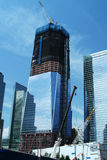 World Trade Center - June 2011. Formerly known as the Freedom Tower - shown under construction. June 2011 - New York, New York stock photography