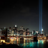 World Trade Center Light Beams. 9 / 11 stock images