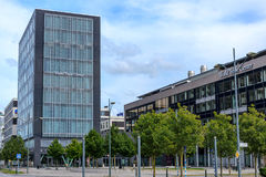 The World Trade Center Malmo. Malmo, Sweden - July 22, 2017: Exterior view of The World Trade Center Malmö a famous business complex in Vastra Hamnen luxury Stock Photography