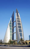 World trade center modern landmark in central manama city bahrai Royalty Free Stock Images