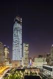 World Trade Center na noite, editorial Fotos de Stock
