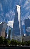 World trade center, New York. World trade center, NY, USA with tourists crowds by the memorial Royalty Free Stock Photography