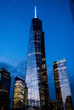 2 World Trade Center. Night view of 2 World Trade Center, almost ready Stock Images