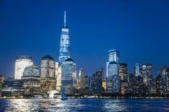 World Trade Center przy nocą Zdjęcie Royalty Free