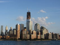 World Trade Center Reconstruction Water View Royalty Free Stock Photography