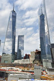 World Trade Center Site - New York City. New York, NY - April 5, 2015: World Trade Center site under construction in lower Manhattan Stock Image