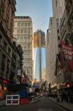 World Trade Center sob a construção Fotos de Stock