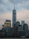 World trade center at sunset Royalty Free Stock Images