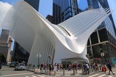 World Trade Center-Transport-Nabe Oculus entwarf durch Santiago Calatrava im Lower Manhattan lizenzfreie stockbilder