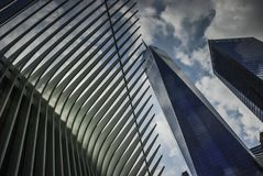 The World Trade Center Transportation Hub—and the Oculus,New York. The World Trade Center Transportation Hub—and the Oculus, the spiky, controversial Royalty Free Stock Photography