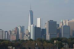World Trade Center-Turm im Dunst stockfotos