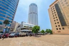 World Trade Center und Bank von Ceylon-Gebäuden sind das hohe Gebäude in Colombo Lizenzfreie Stockfotografie