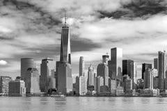 World Trade Center und Lower Manhattan Stockfotos