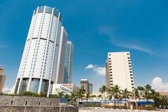 World Trade Center und Querneigung von Ceylon Stockbild