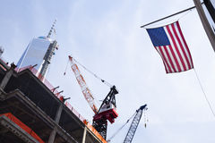 World Trade Center Under Construction, editorial Stock Image