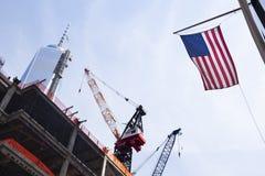 World Trade Center under konstruktion, ledare Fotografering för Bildbyråer