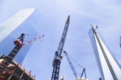 World Trade Center under konstruktion, ledare Royaltyfria Foton