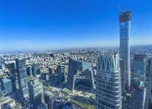 World Trade Center Z15 står högt det skyskrapaGuamao området Beiji Royaltyfria Foton