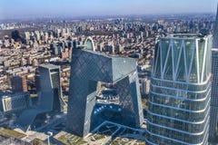 World Trade CenterCCTV står högt det skyskrapaGuamao området Beiji Royaltyfria Bilder