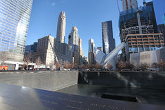 World Trade Centercentrum en 9/11 herdenkingsnew york, de V.S. Stock Afbeelding
