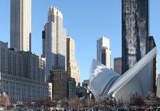 World Trade Centermitt och 9/11 minnes- New York, USA Arkivbild