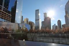 World Trade Centermitt och 9/11 minnes- New York, USA Fotografering för Bildbyråer