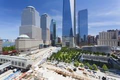 World Trade Centerområde, New York, ledare Fotografering för Bildbyråer