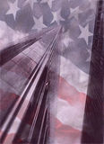 World Trade Center with American flag Royalty Free Stock Images