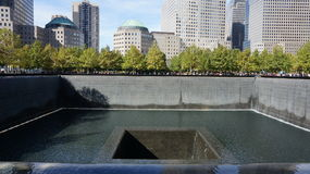 World Trade Centre Memorial - Wide View royalty free stock photos