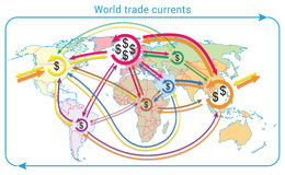 World trade currents Royalty Free Stock Image