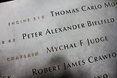World Trade Memorial, Manhattan, NY Royalty Free Stock Photography