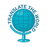 World translation icon, cartoon style Royalty Free Stock Photos