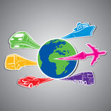 World transport Concept stock  Royalty Free Stock Images