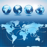 World Transportation And Logistics With Earth Glob Stock Photo