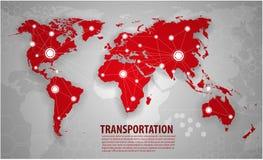 World transportation and logistics. Global Communication And business networks Stock Illustration
