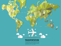World transportation vector :flats Royalty Free Stock Image