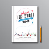 World Travel Book Template Design can be used for Book Cover, M Stock Photo