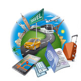 World travel concept Royalty Free Stock Photo