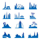World travel destinations Royalty Free Stock Images