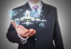 World travel futuristic hologram royalty free stock images