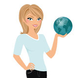 World travel girl Stock Images