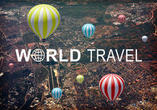 World Travel header Stock Images