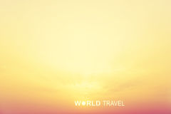 World Travel header Stock Photography