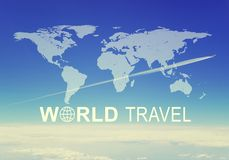 World Travel header Royalty Free Stock Images