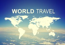 World Travel header Royalty Free Stock Photo
