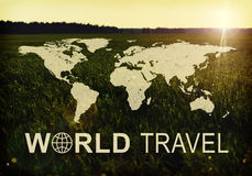 World Travel header Stock Photo