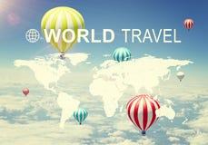 World Travel header Stock Image