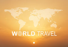 World Travel header Stock Image